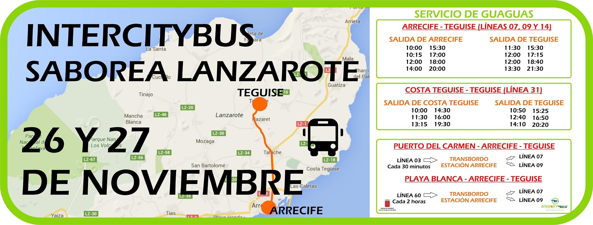 Servicio de Guaguas de Saborea Lanzarote