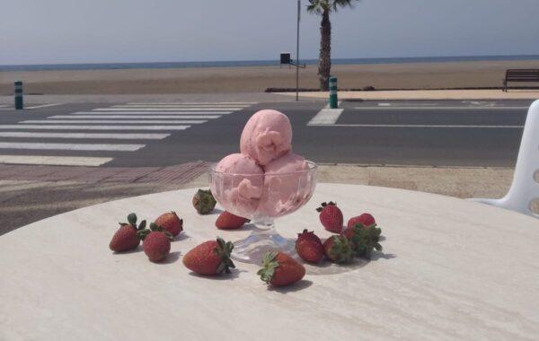 Helado de fresas de Tías